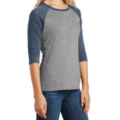 Women's Perfect Tri 3/4-Sleeve Raglan - Navy Frost/ Grey Frost
