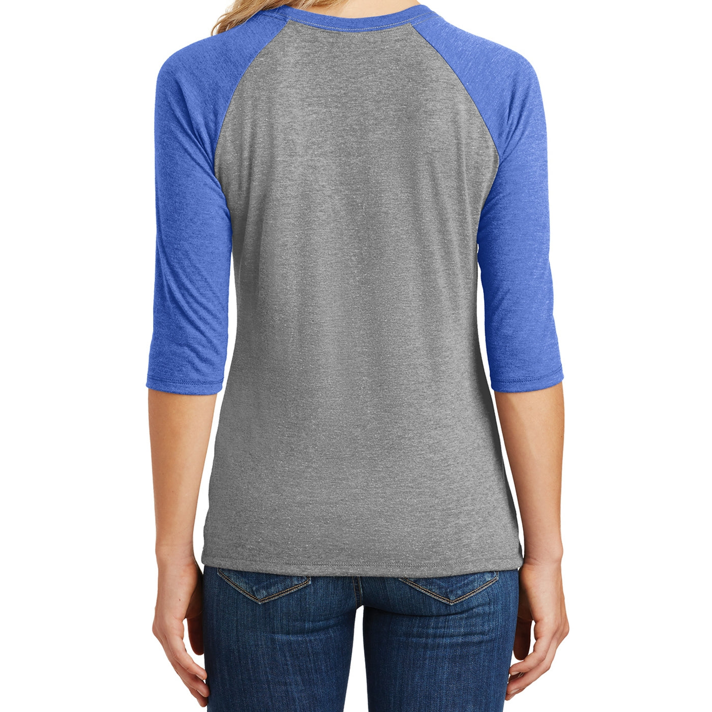 Women's Perfect Tri 3/4-Sleeve Raglan - Royal Frost/ Grey Frost