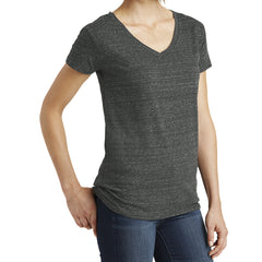 Womens Cosmic Relaxed V-Neck Tee - Black/Grey Cosmic - Side