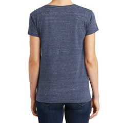 Womens Cosmic Relaxed V-Neck Tee - Navy/Royal Cosmic - Back