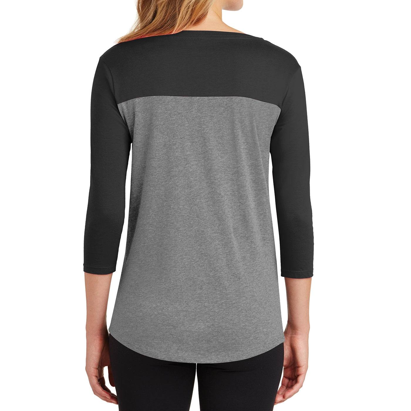 Women's Juniors Rally 3/4-Sleeve Tee - Black/ Grey Frost