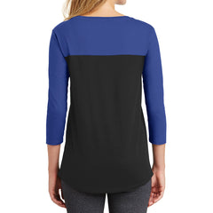 Women's Juniors Rally 3/4-Sleeve Tee - Deep Royal/ Black