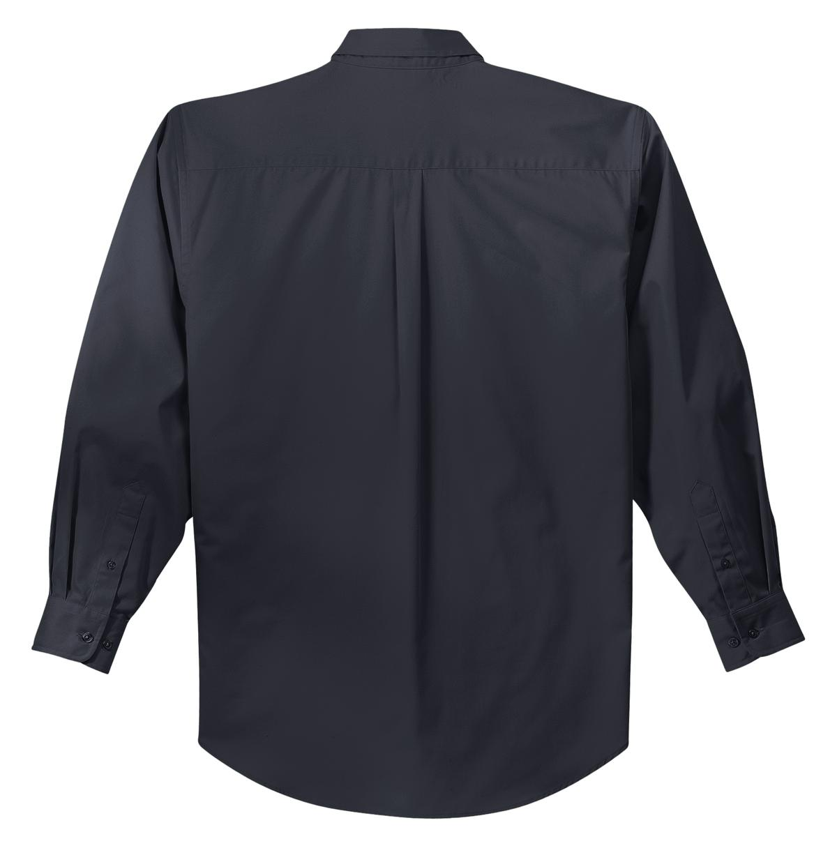 Mafoose Men's Tall Long Sleeve Easy Care Shirt Classic Navy/ Light Stone-Back
