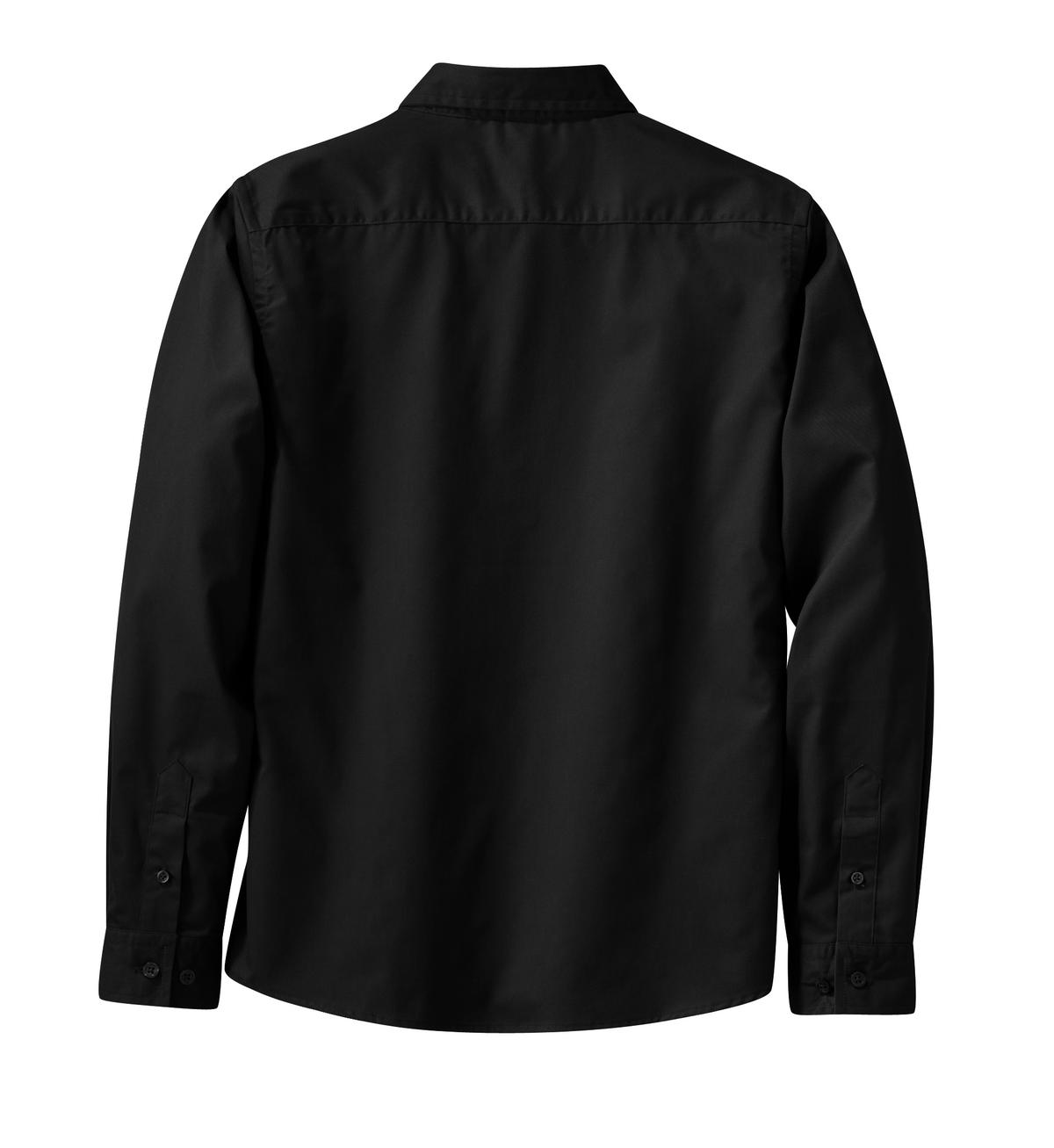 Mafoose Women's Long Sleeve Easy Care Shirt Black/ Light Stone-Back