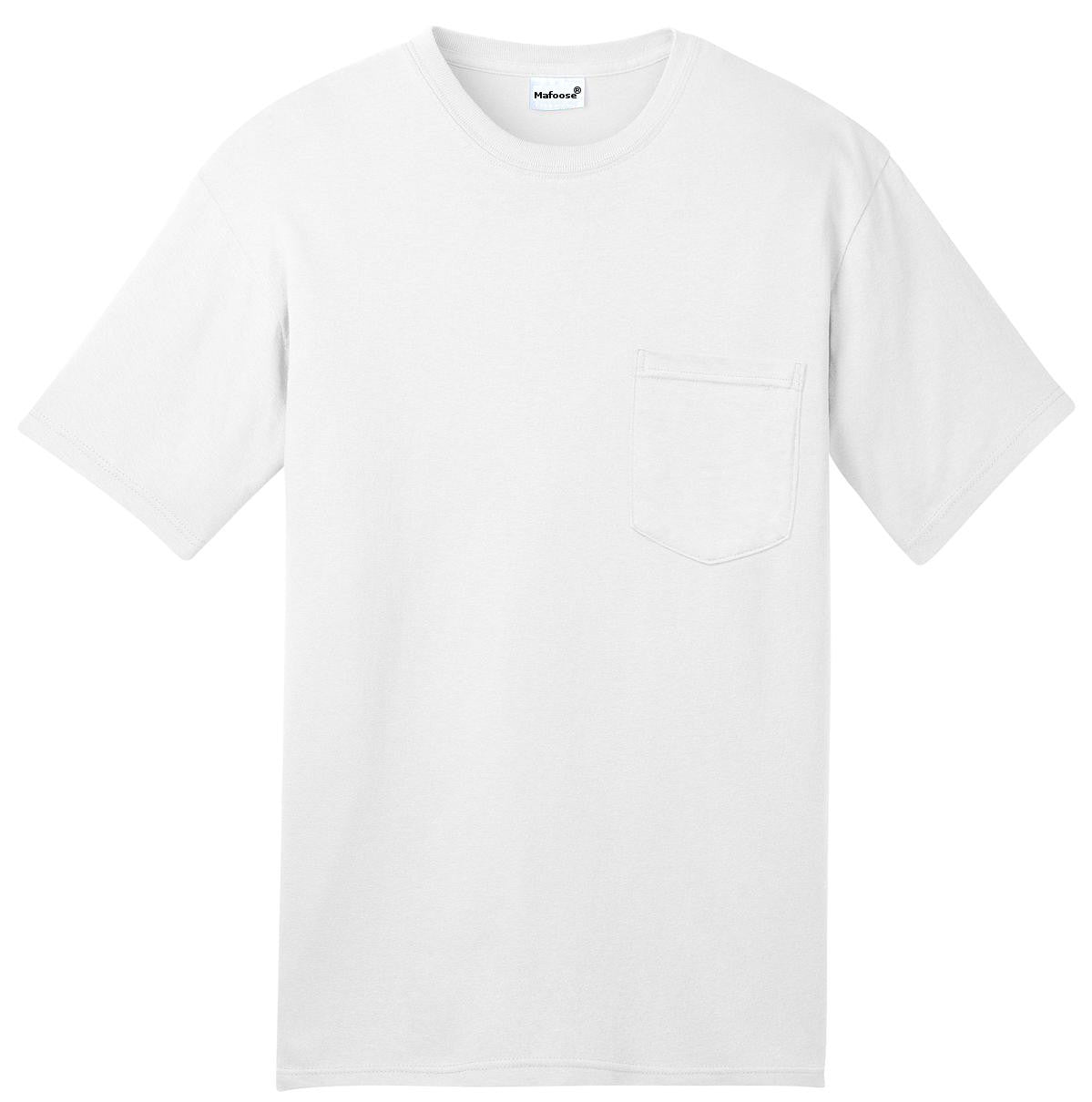 Mafoose Men's All American Tee Shirt with Pocket White-Front