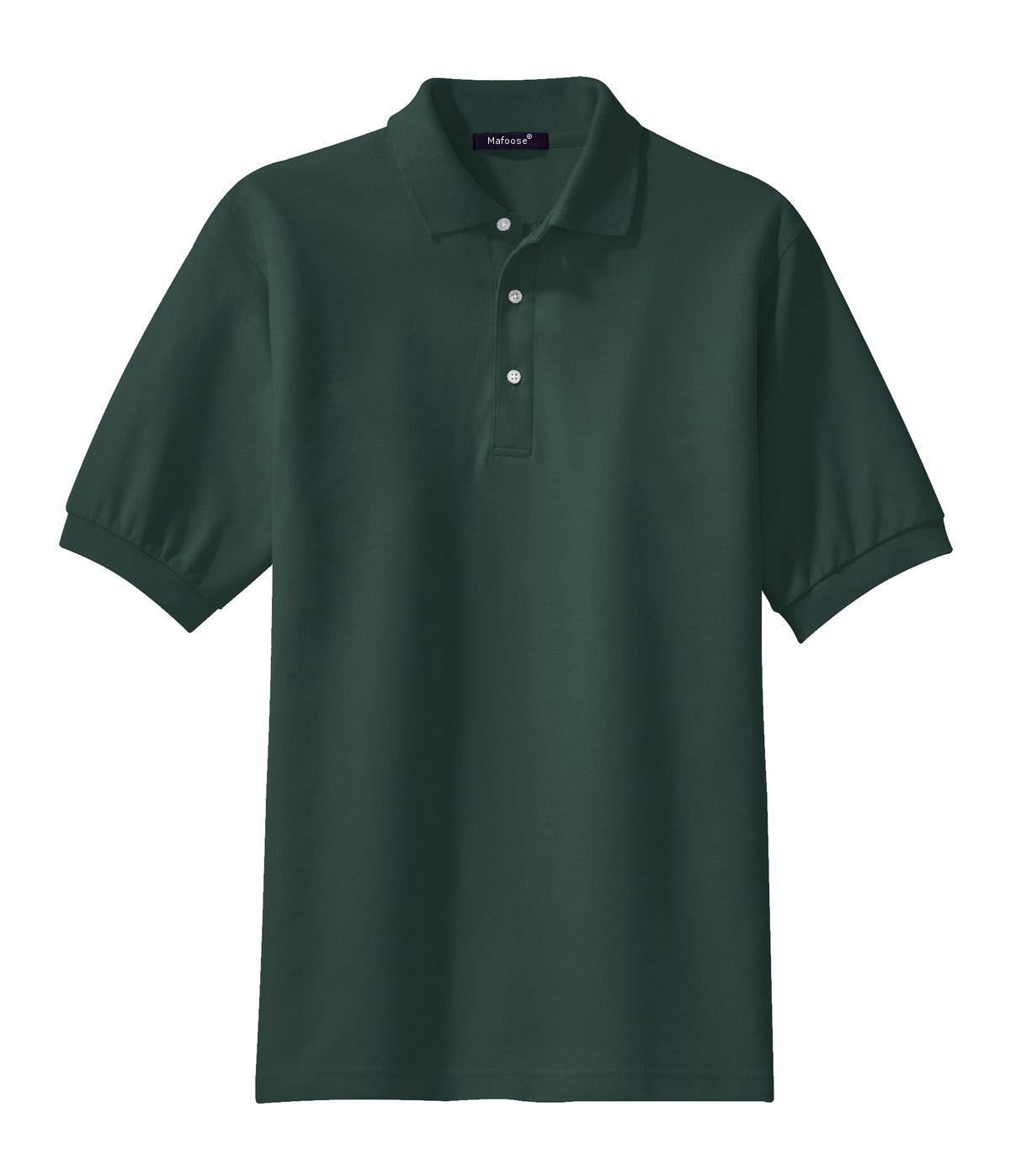 Mafoose Men's 100% Pima Cotton Polo Shirt Dark Green-Front