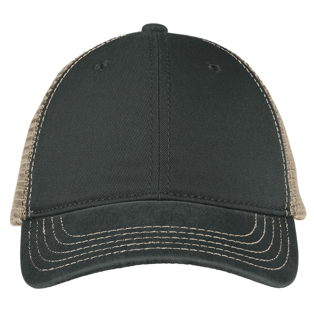 Men's Super Soft Mesh Back Cap - Black/ Khaki
