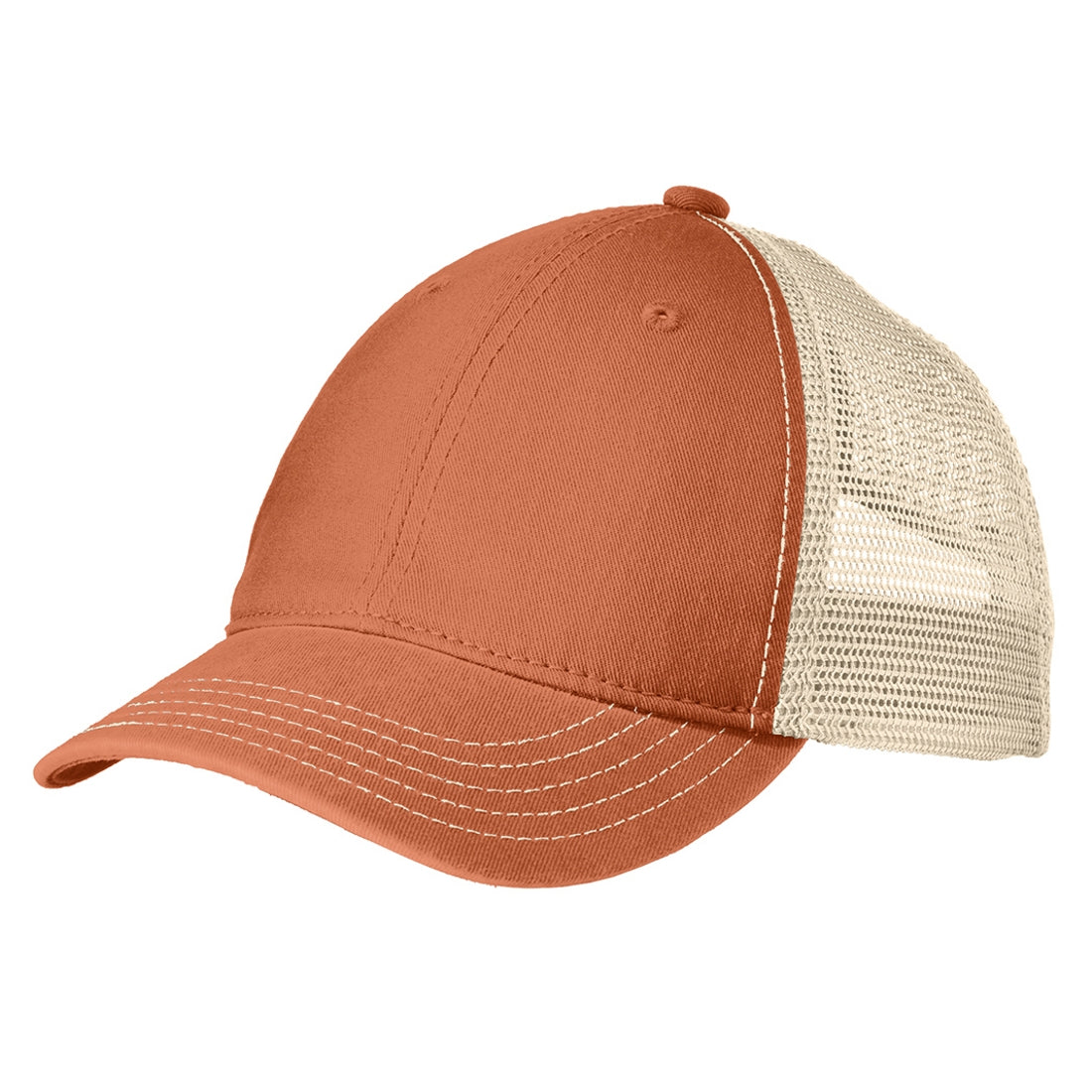 Men's Super Soft Mesh Back Cap - Burnt Orange/ Stone