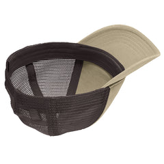 Men's Super Soft Mesh Back Cap - Khaki/ Chocolate Brown