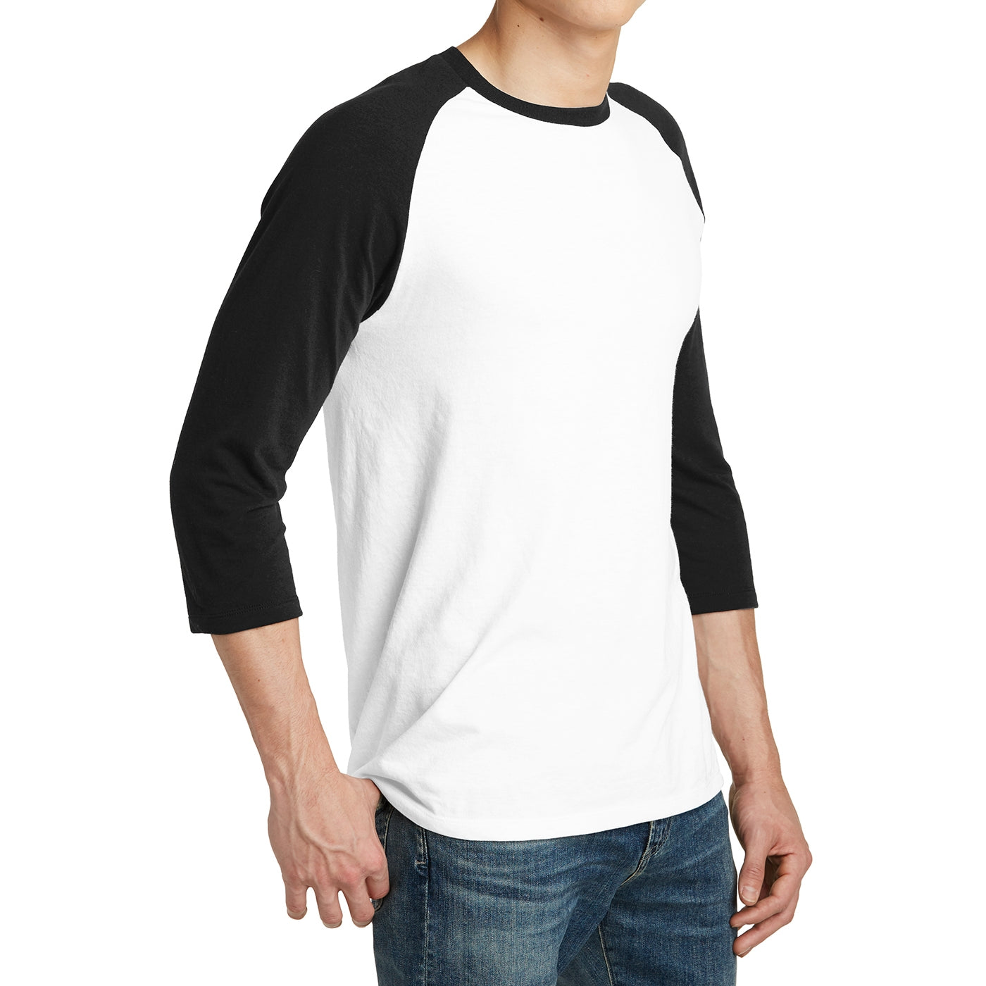 Men's Young  Very Important Tee 3/4-Sleeve Raglan - Black/ White