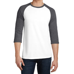 Men's Young  Very Important Tee 3/4-Sleeve Raglan - Heathered Charcoal/ White