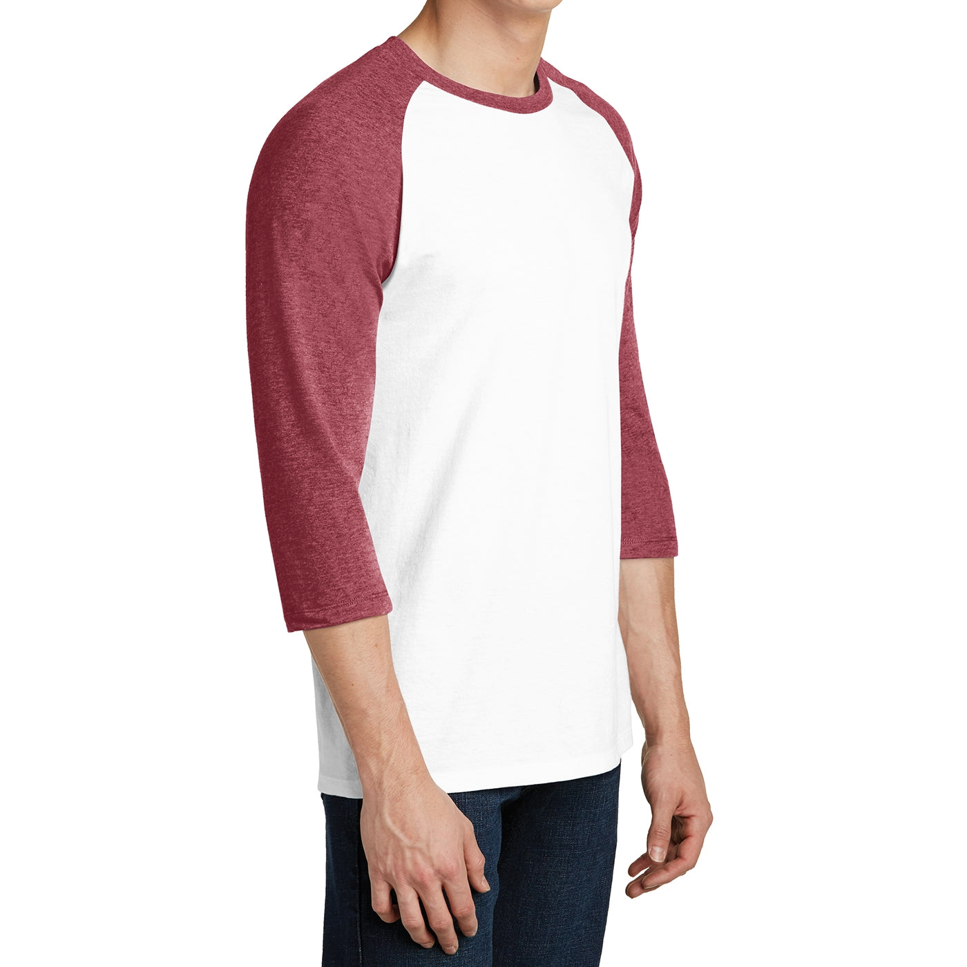 Men's Young  Very Important Tee 3/4-Sleeve Raglan - Heathered Red/ White