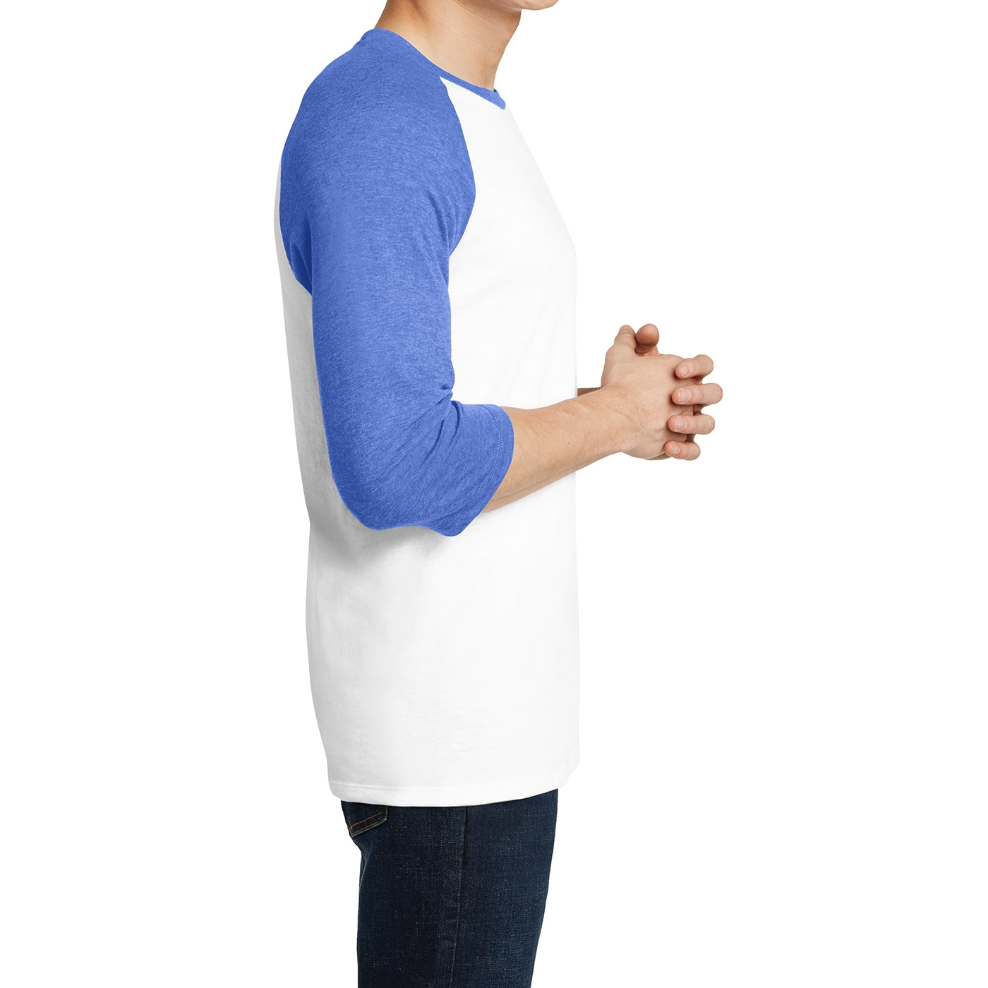 Men's Young  Very Important Tee 3/4-Sleeve Raglan - Royal Frost/ White
