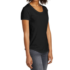 Women's Juniors Scoop Neck Very Important Tee - Black