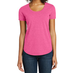 Women's Juniors Scoop Neck Very Important Tee - Fuchsia Frost