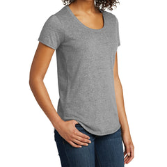 Women's Juniors Scoop Neck Very Important Tee - Grey Frost