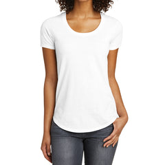 Women's Juniors Scoop Neck Very Important Tee - White