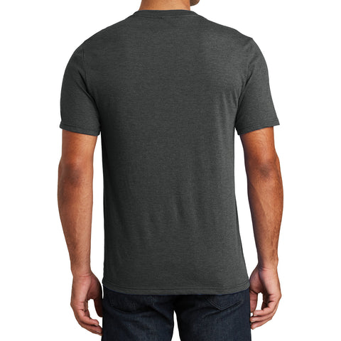 Mens Perfect Tri V-Neck Tee - Black Frost - Back
