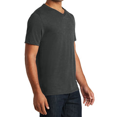 Mens Perfect Tri V-Neck Tee - Black Frost - Side