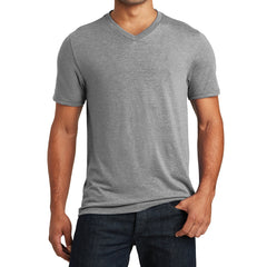 Mens Perfect Tri V-Neck Tee - Grey Frost - Front