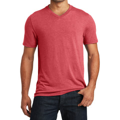 Mens Perfect Tri V-Neck Tee - Red Frost - Front