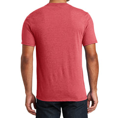 Mens Perfect Tri V-Neck Tee - Red Frost - Back