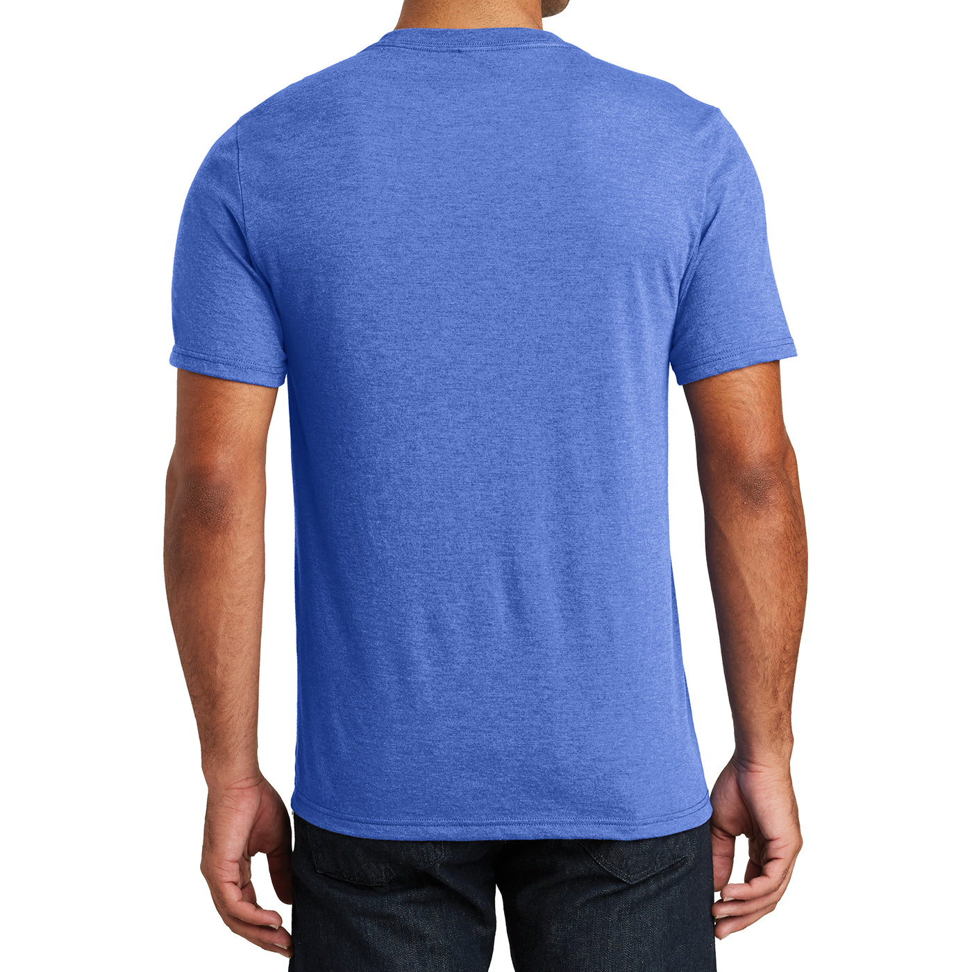Mens Perfect Tri V-Neck Tee - Royal Frost - Back