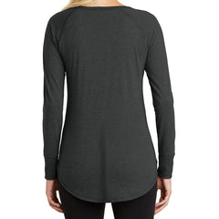Women's Perfect Tri Long Sleeve Tunic - Black Frost