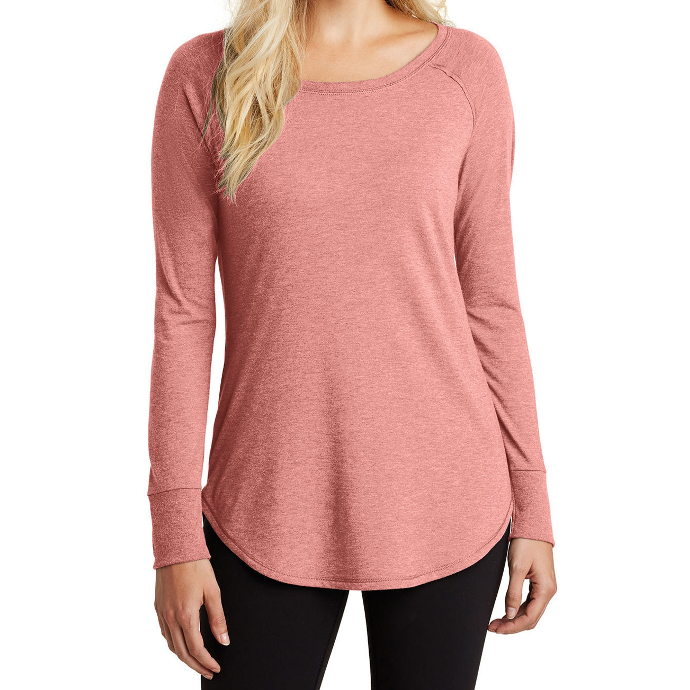 Women's Perfect Tri Long Sleeve Tunic - Blush Frost