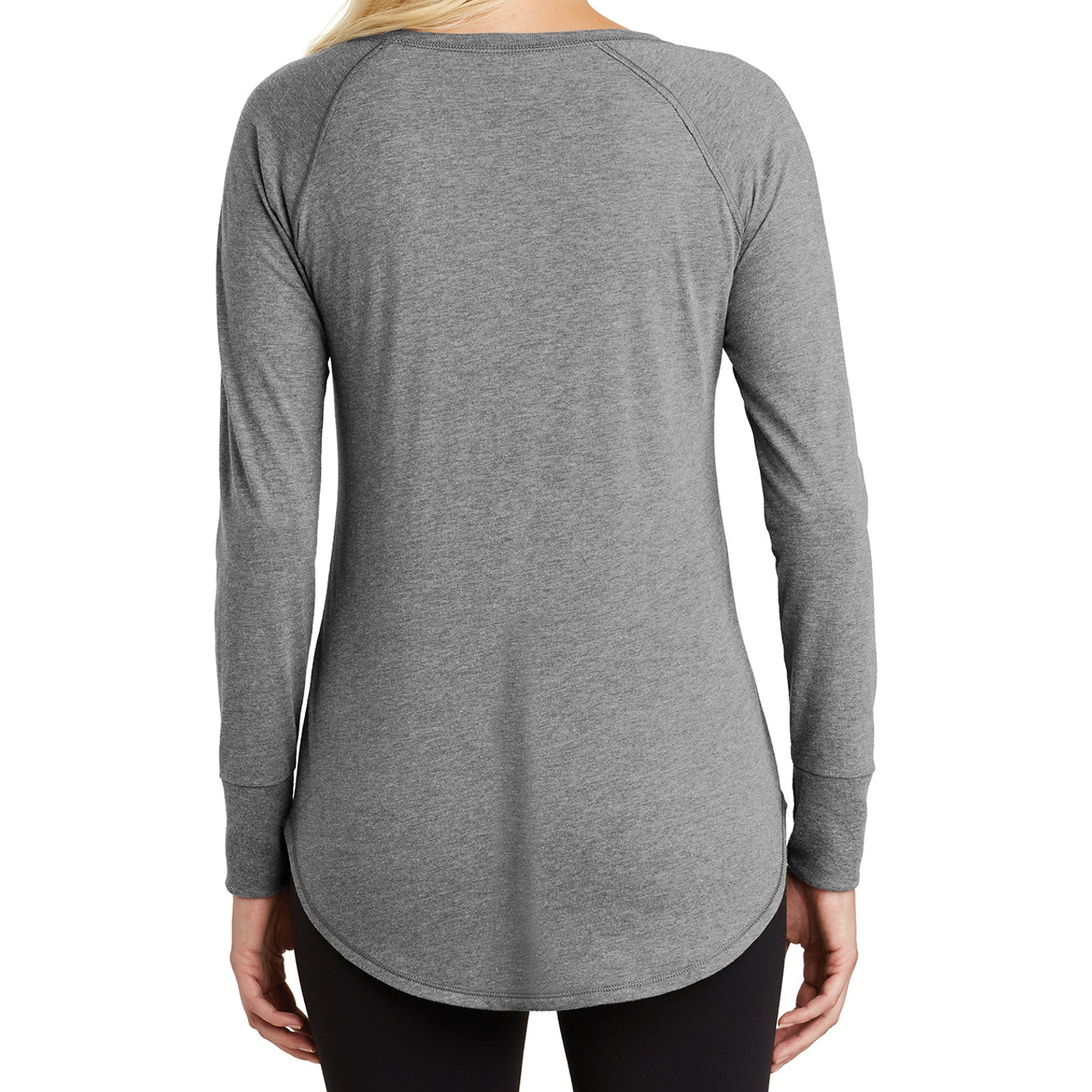 Women's Perfect Tri Long Sleeve Tunic - Grey Frost