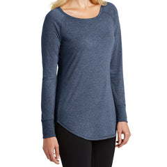 Women's Perfect Tri Long Sleeve Tunic - Navy Frost