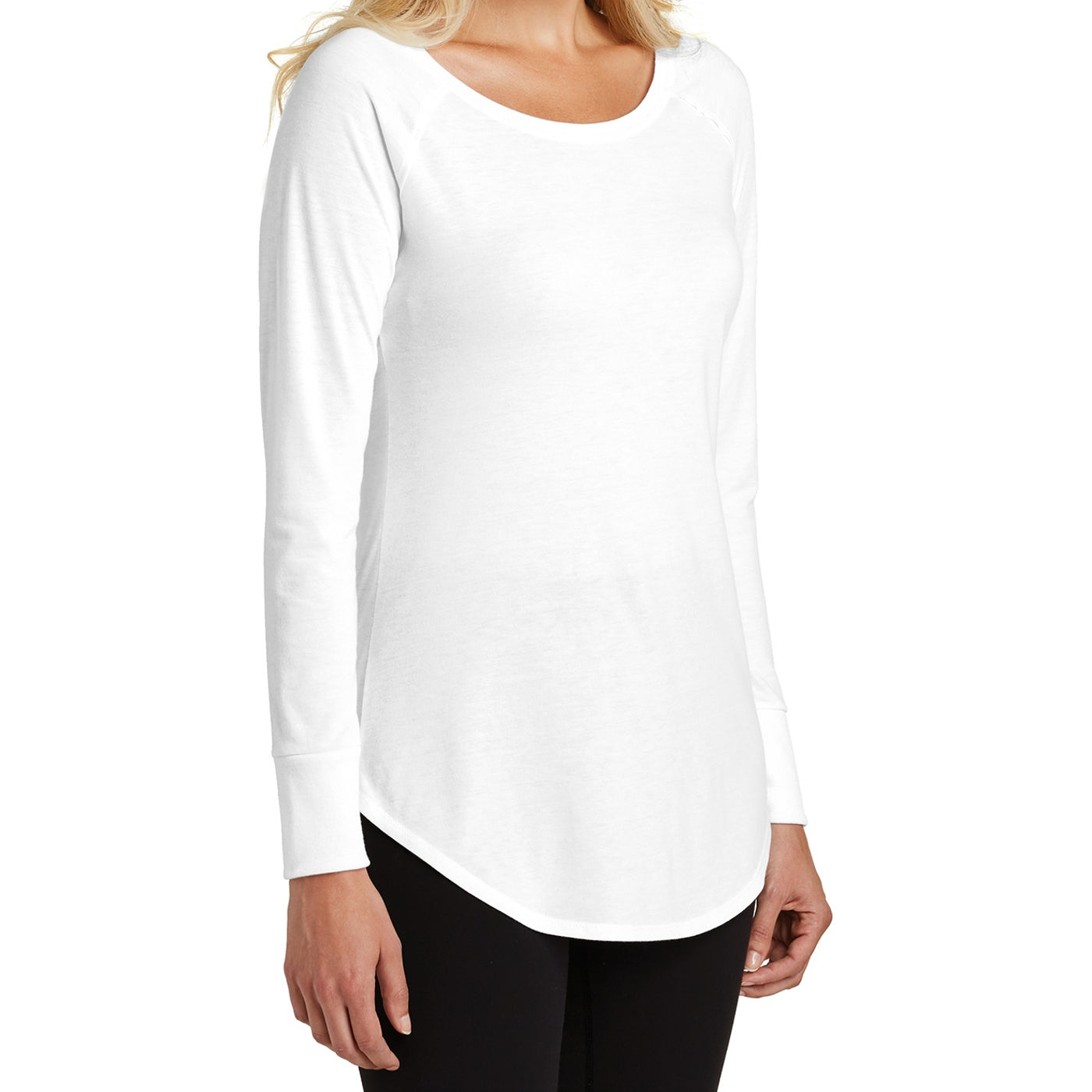 Women's Perfect Tri Long Sleeve Tunic - White