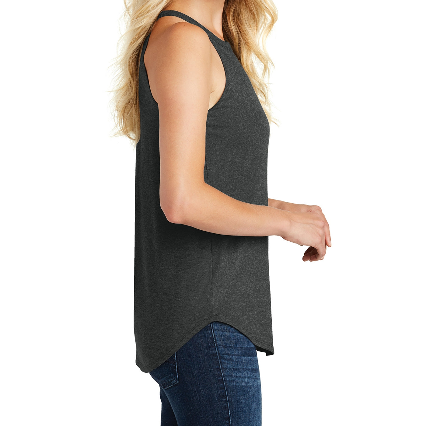 Women's Perfect Tri Rocker Tank - Black Frost