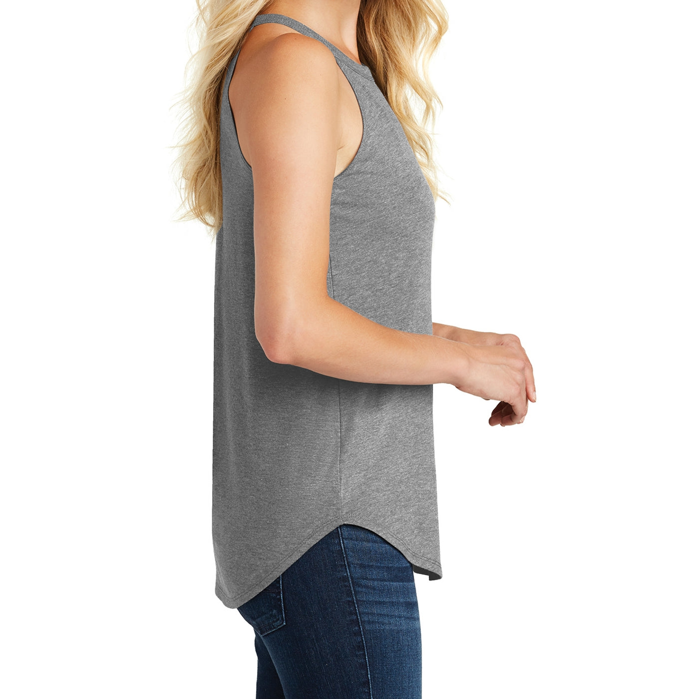 Women's Perfect Tri Rocker Tank - Grey Frost