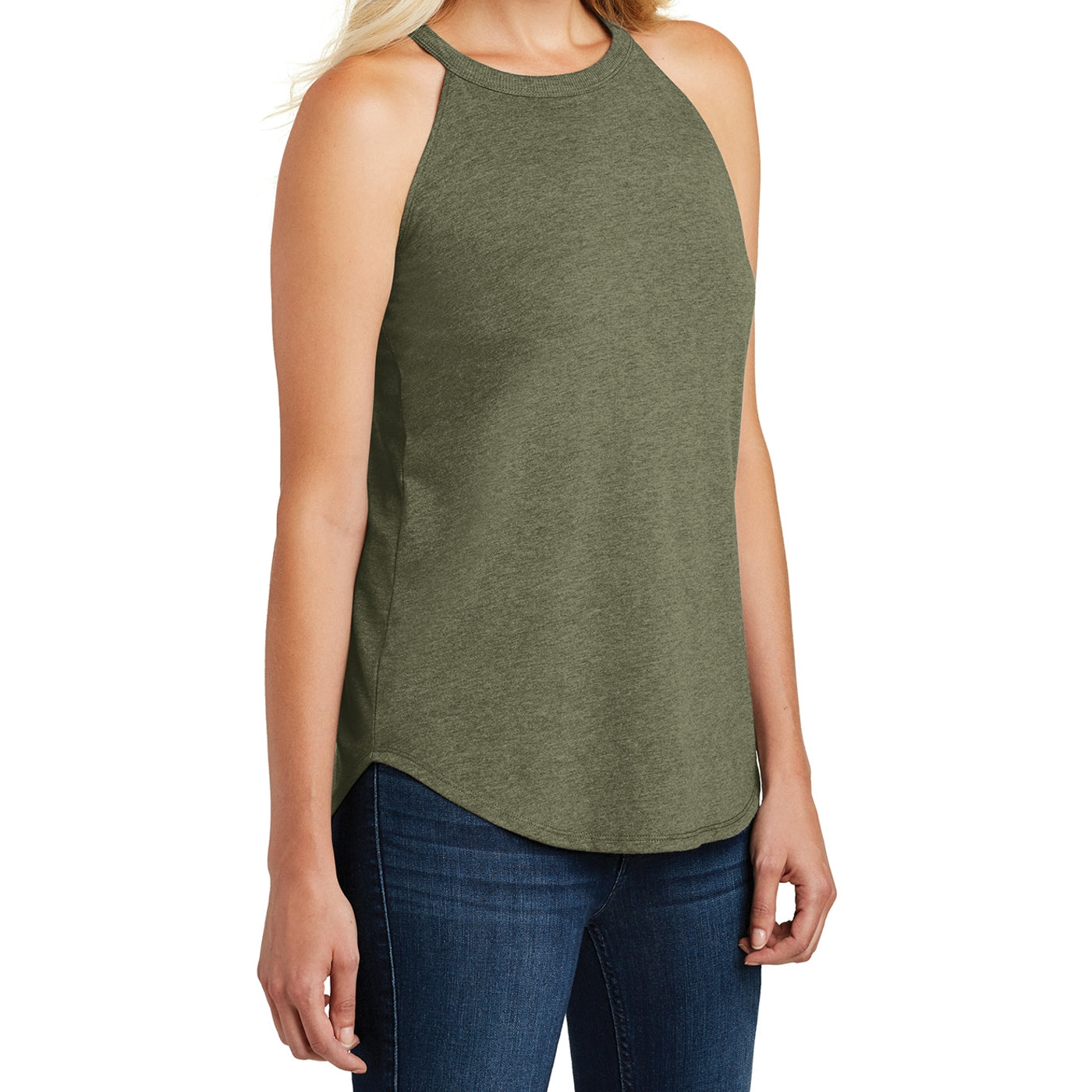 Women's Perfect Tri Rocker Tank - Military Green Frost