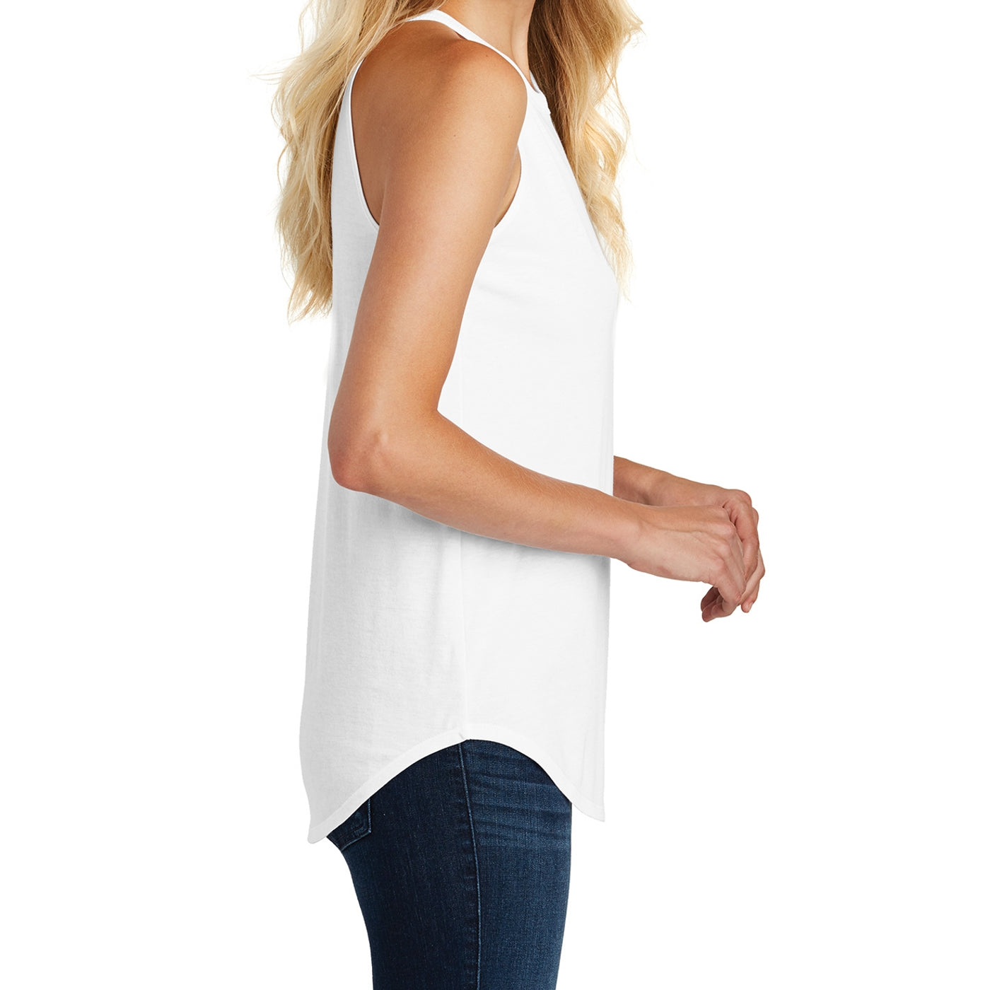 Women's Perfect Tri Rocker Tank - White