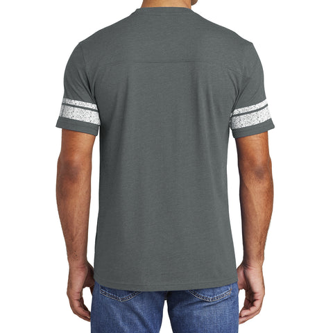 Men's Game Tee - Heathered Charcoal/ White