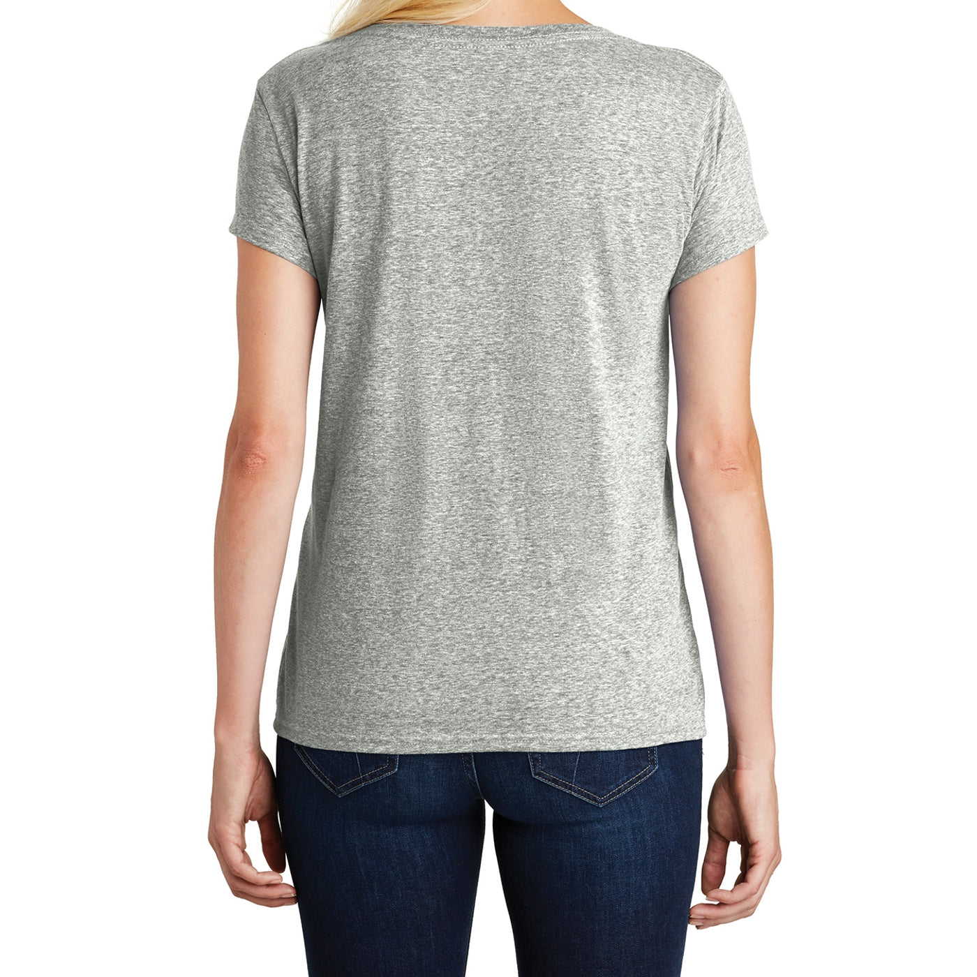 Women's Cosmic Relaxed V-Neck Tee - Grey Astro