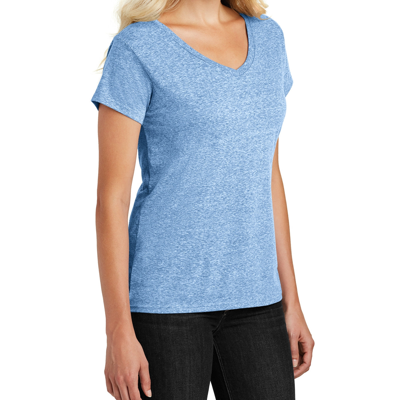 Women's Cosmic Relaxed V-Neck Tee - Royal Astro