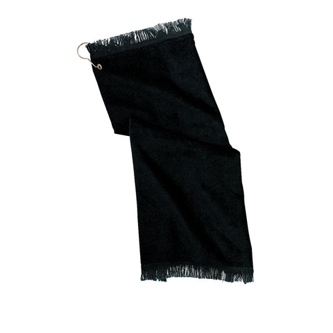Grommeted Hand Towel Black
