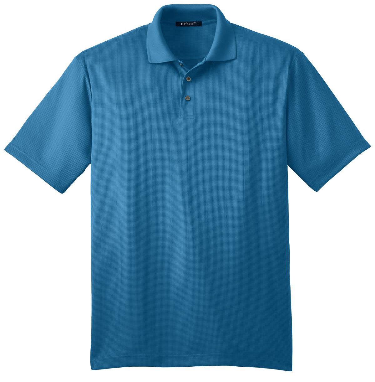 Mafoose Men's Performance Fine Jacquard Polo Ocean Blue-Front