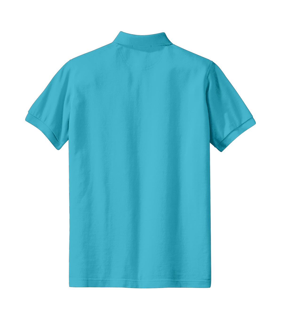 Mafoose Women's Heavyweight Cotton Pique Polo Shirt Turquoise-Back