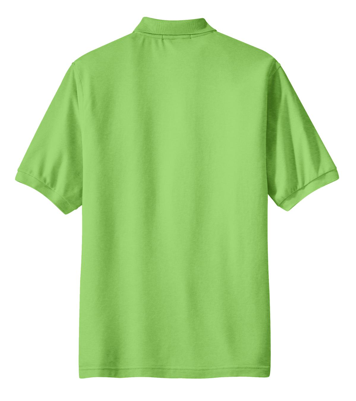 Mafoose Men's Silk Touch Polo with Pocket Lime-Back