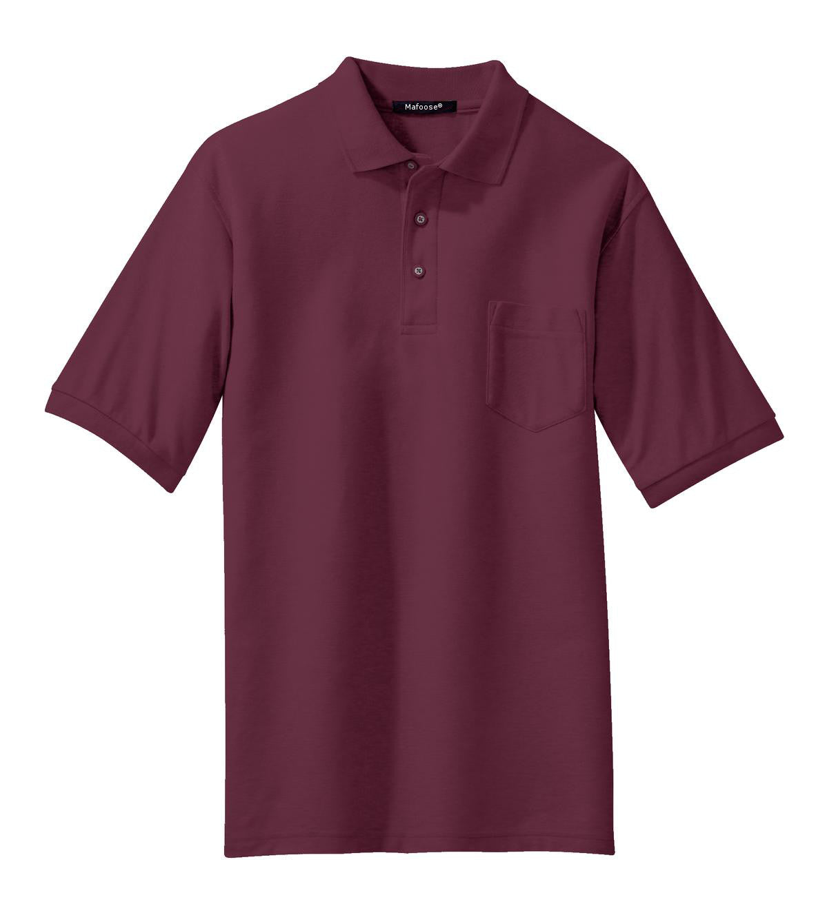 Mafoose Men's Silk Touch Polo with Pocket Burgundy-Front
