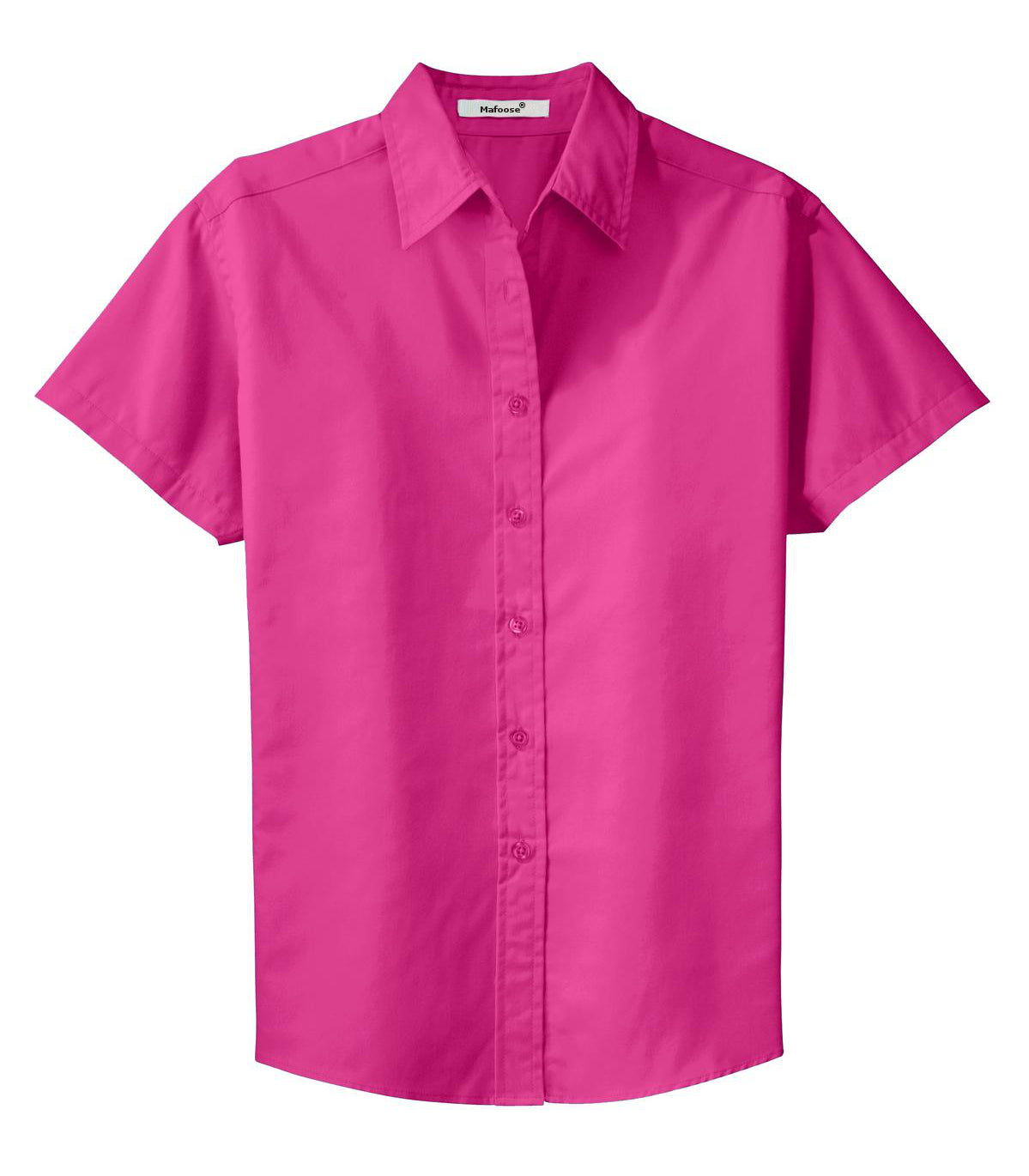 Mafoose Women's Comfortable Short Sleeve Easy Care Shirt Tropical Pink-Front
