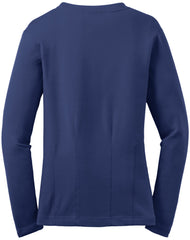 Mafoose Women's Stretch Cotton Cardigan Sapphire Blue-Back