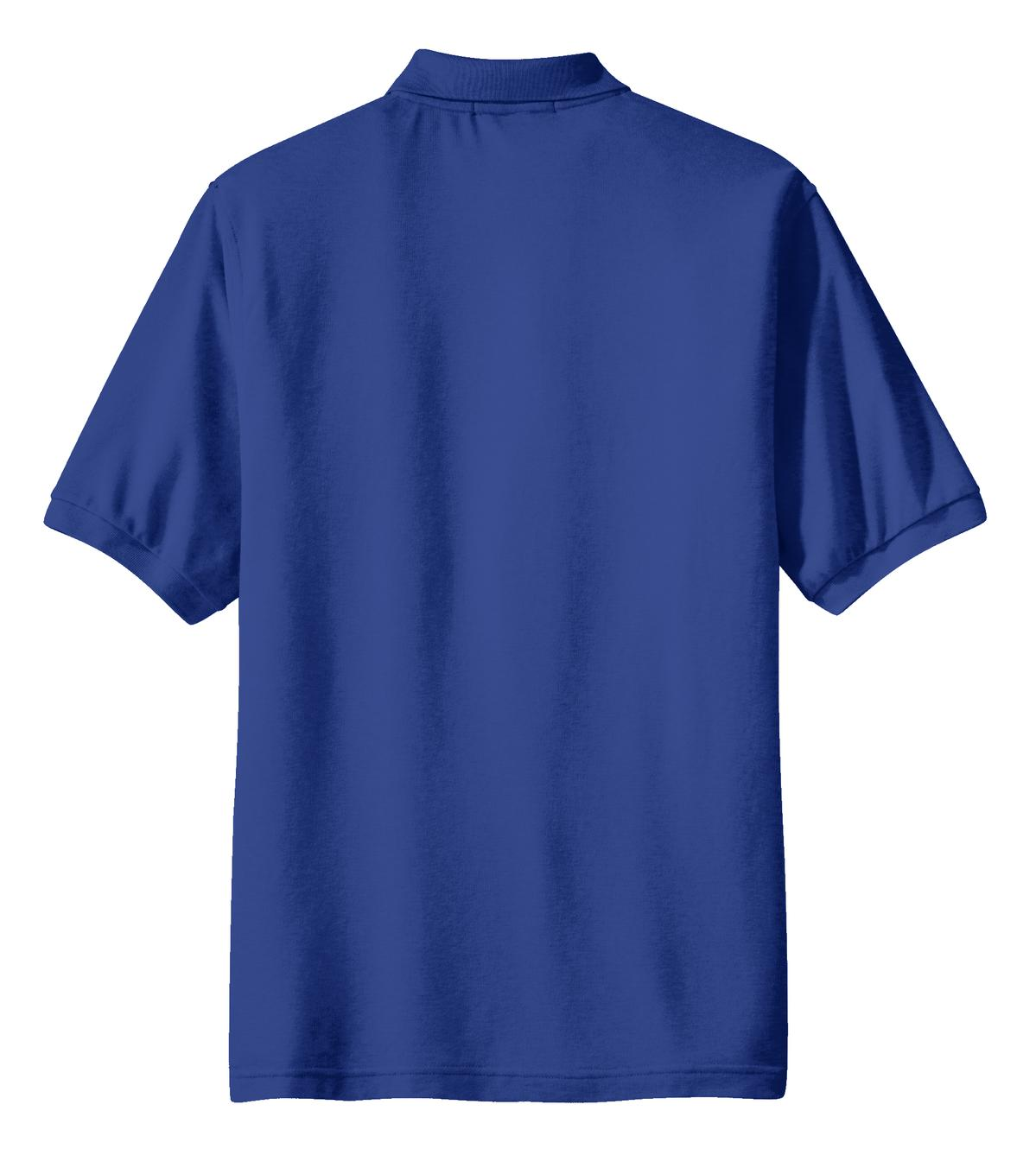 Mafoose Men's Silk Touch Polo with Pocket Royal-Back