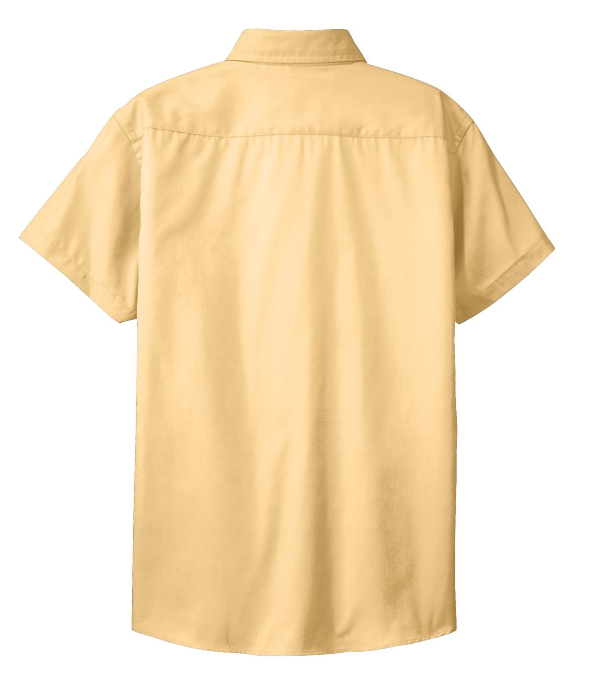 Mafoose Women's Comfortable Short Sleeve Easy Care Shirt Yellow-Back