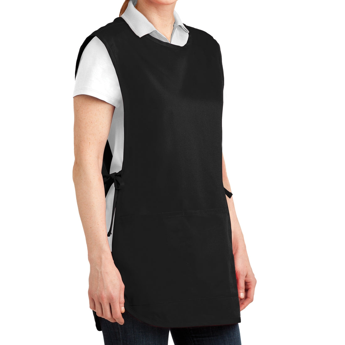 Easy Care Cobbler Apron with Stain Release - Black