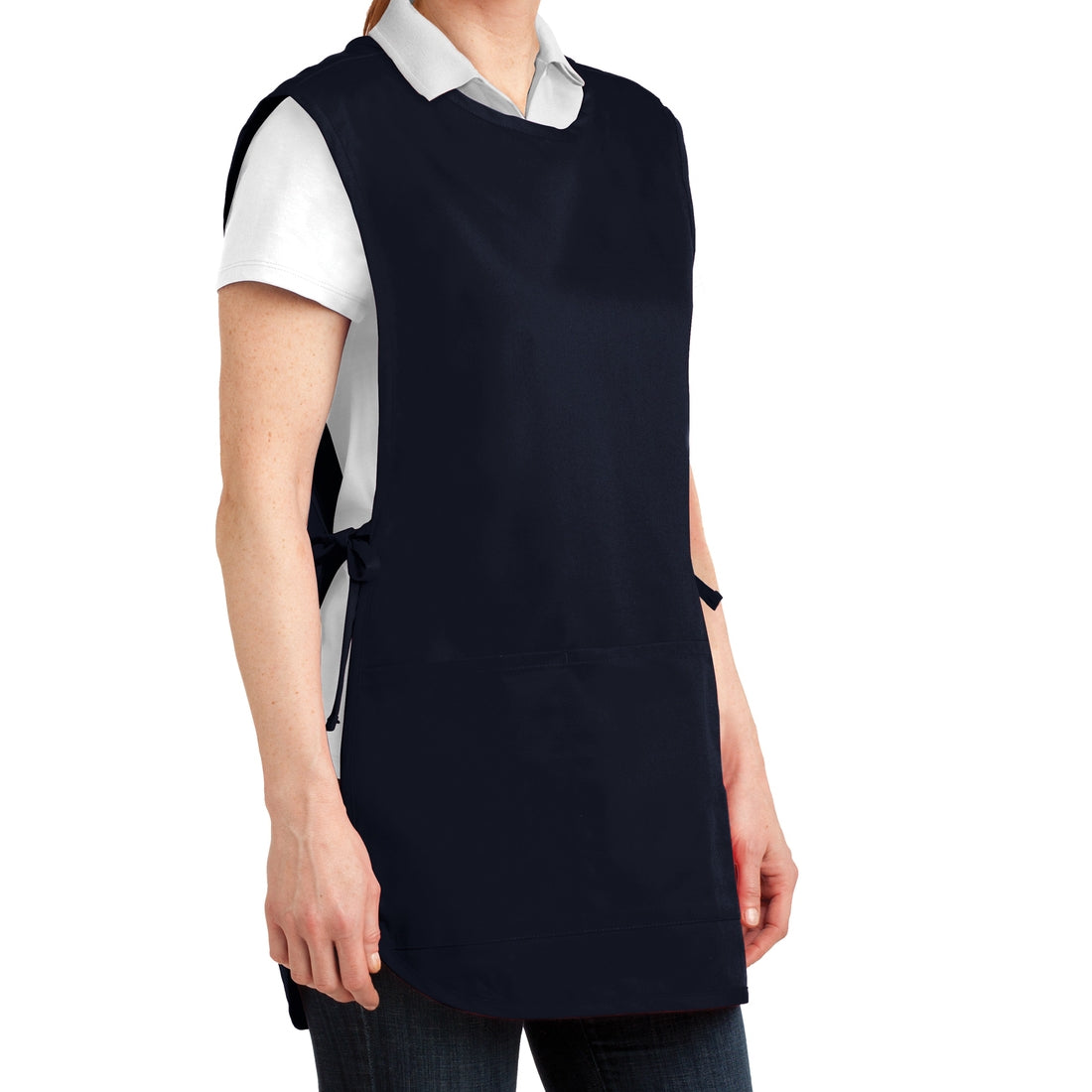 Easy Care Cobbler Apron with Stain Release - Navy